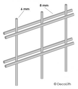 Doppelstabmatten Drahtkörbe Gabionen 8 mm 6 mm
